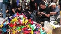 Manifestaciones de Hong Kong ocupan centro comercial sin perturbar el aeropuerto