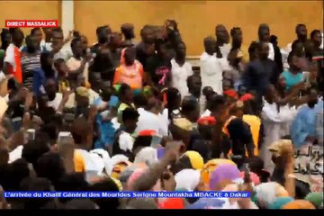 L'arrivée spectaculaire de Serigne Mountakha à Dakar