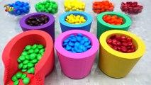 Canción ABC: aprende los colores con la arena cinética Rainbow, juguetes para gofres, juegos de waffle, rimas infantiles para niños