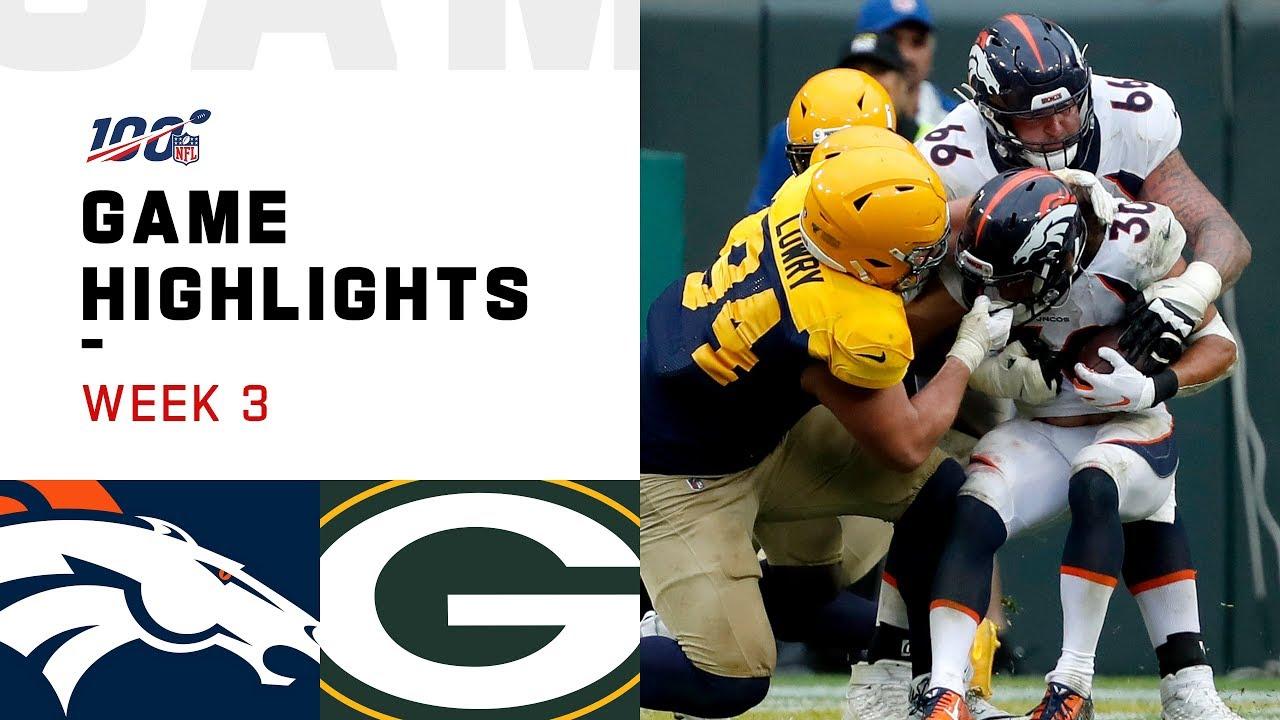 Broncos vs. Packers Week 3 Highlights - NFL 2019 [SLIMV]