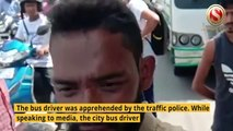 City Bus driver allegedly tried to bang one City Traffic Constable in broad daylight