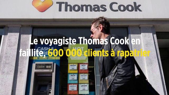Le voyagiste Thomas Cook en faillite, 600 000 clients à rapatrier