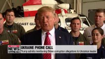 Trump acknowledges mentioning Biden corruption allegations in call to Ukrainian leader