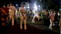 Un danseur de capoeira se mange un violent faceplant-Bresil