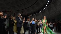 Trending: Jennifer Lopez surprises in iconic Versace dress at Milan Fashion Week, Taylor Swift cancels Melbourne Cup performance, and Friends stars mark anniversary