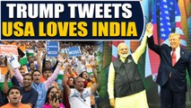 Trump tweets gratitude for love received at Howdy Modi event | OneIndia News