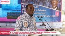 1er congrès de la JFPI : Pascal Affi N'Guéssan réitère son appel à un débat national pour une paix durable