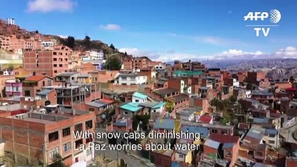 Melting snowcaps spell water trouble for world's highest city
