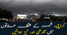Cloudy, windy, pleasant weather in Karachi
