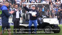 Maradona gets huge welcome at new club