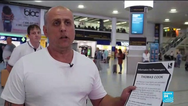 "Thomas Cook collapse: ""We found out today, there was no communication about it,"" says traveller"