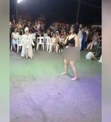 Sünnet düğününde tuhaf dans