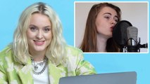 Zara Larsson Watches Fan Covers on YouTube
