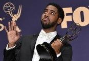 Jharrel Jerome's Backstage Emmy Speech