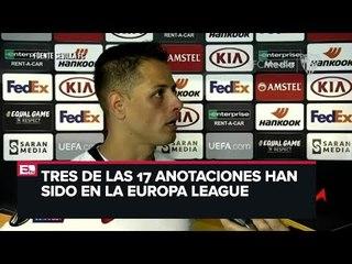 'Chicharito' llega a su gol 17 en competencias europeas