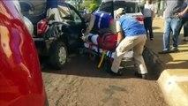 Três veículos se envolvem em colisão na Avenida Tancredo Neves