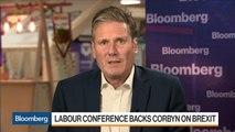 U.K. Labour Party's Starmer Warns Boris Johnson Over Brexit Law