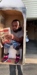 Guy Dresses Up As Toilet Booth For Halloween Video Dailymotion