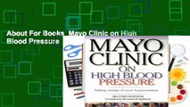 About For Books  Mayo Clinic on High Blood Pressure  For Free
