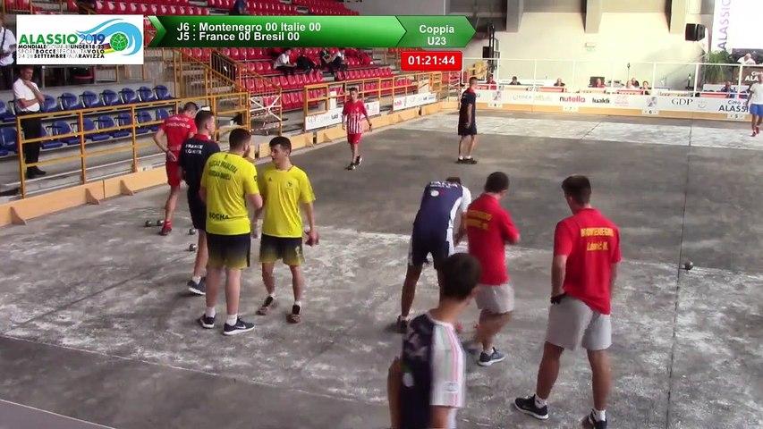 Premières parties de poules, Double U23, Mondial Jeunes, Alassio 2019
