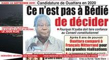 Le Titrologue du 24 Septembre 2019 : Candidature de Ouattara, ce n'est pas à Bédié de décider