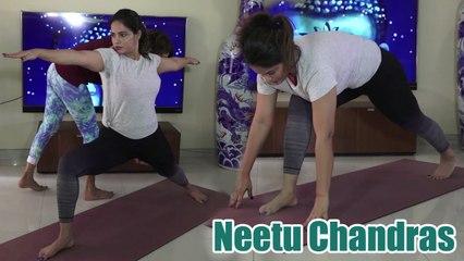 gorgeous neetu chandra teaching all yoga steps