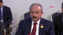 Tbmm başkanı şentop, bosna hersek halklar meclisi başkanı bakir izzetbegoviç ile heyetlerarası...