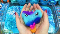 Blue Slime Mixing ! Mixing Random Things into Slime !! Relaxing with Piping Bags Slime s #537