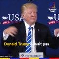En pleine conférence de presse, Donald Trump balance ses fiches