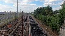 Arrière d'un train sur Rail - Rear of a train on Rail