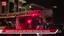 Bakırköy'de lüks bir sitede korkutan yangın