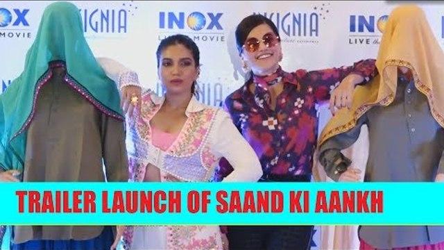 Trailer Launch of Bhumi Pednekar and Taapsee Pannu's Saand Ki Aankh