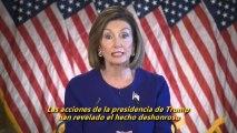 La presidenta del Congreso activa el 'impeachment' contra Trump por la polémica sobre Ucrania