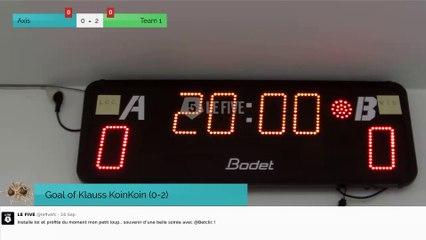 Goal of Klauss KoinKoin (0-2)