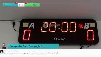 Own goal of Dario Giampaglia (1-2)