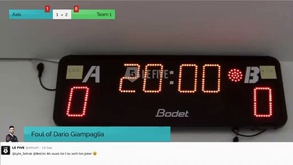 Foul of Dario Giampaglia