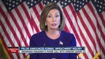 Nancy Pelosi announces formal impeachment inquiry