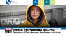 Greta Thunberg named winner of 'alternative Nobel Prize'
