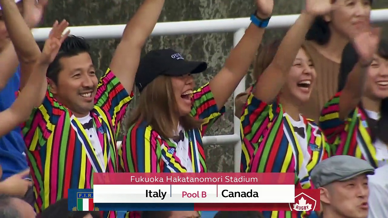 HIGHLIGHTS: Italy v Canada – Rugby World Cup 2019