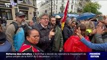 """""""C'est des barbares."""" Les mots de Mélenchon à l'égard des policiers lors d'une manifestation contre la réforme des retraites"""