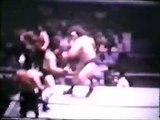 Andre the Giant/Dominic DeNucci/Pat Barrett vs Blackjacks/Lou Albano (WWWF Boston August 23rd, 1975)