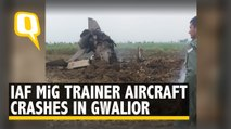 IAF MiG Trainer Aircraft Crashes near Gwalior Airbase, Pilots Eject Safely