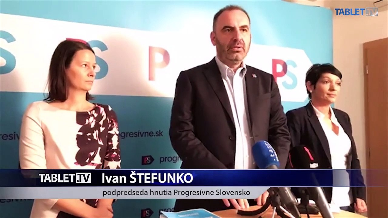 ZÁZNAM: TK politického hnutia Progresívne Slovensko