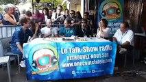 Jean-Luc Azoulay, Elsa Esnoult et Sébastien Roch dans Chut ! On écoute la télé depuis la Rochelle, le 14 septembre dernier