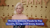 Michelle Williams Uses Her Emmy Platform For Pay Equality