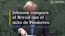 Johnson compara el Brexit con el mito de Prometeo