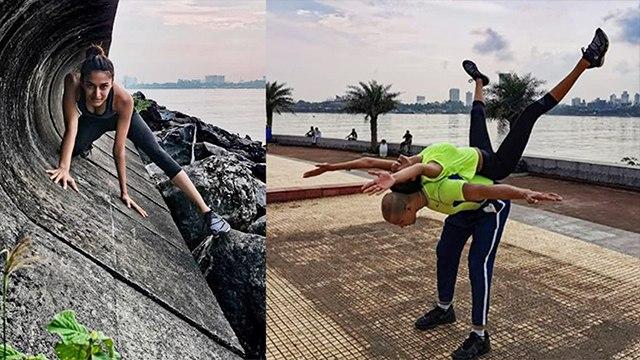Erica Fernandes सड़कों पर करती नज़र आईं Workout   FilmiBeat
