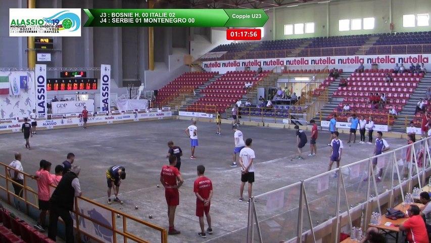 Secondes parties de poules, Double U23, Mondial Jeunes U18 et U23, Alassio 2019