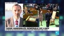 Assemblée générale de l'ONU : attente du discours d'Hassan Rohani, président de l'Iran