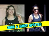 Sara Ali Khan and Daisy Shah spotted leaving the gym after workout